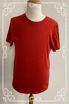 Nieuw: Stoer basis Tshirt in roestbruin/rood van Petit Bateau Maat 158