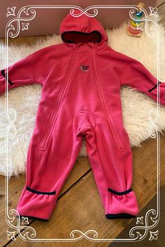 Roze fleece onesie van Bush Baby - maat 74