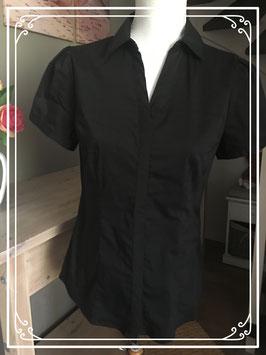 Getailleerde zwarte blouse - Maat 36