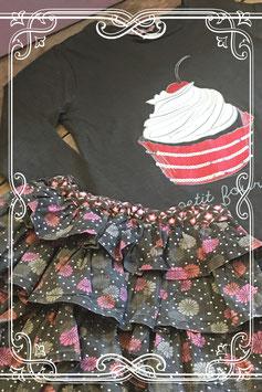 Prachtige set van rok met cupcake longsleeve van WE-maat 122-128