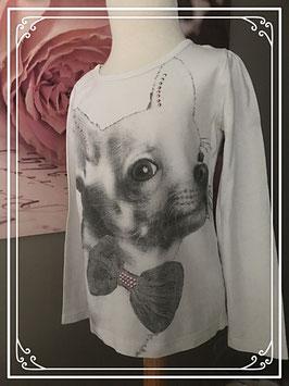 Wit t-shirt met hondje van Espirit - Maat 116-122