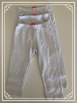 Set van 3 witte leggings van de HEMA - Maat 122-128