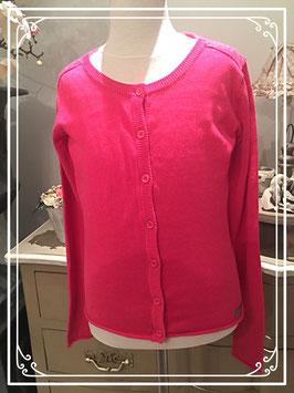 Roze vest met glittersteentjes - maat 158-164