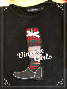 Zwart T-shirt van merk Vinrose in maat 92