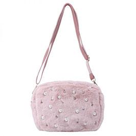 Nieuw: Een roze Bag Luxury Pearls & Fur van Yehwang
