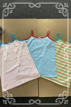 Nieuw! 3 vrolijk gekleurde hemdjes maat 158/164