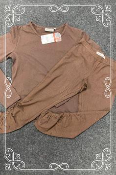 Nieuw! Bruine longsleeve van C&A maat L en bruine legging van Exclusive Design maat L/XL