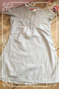 Grijs jurkje met korte mouw van D-Zine - Maat 140-146