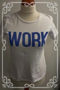 Wit shirt met Work erop van Only maat M