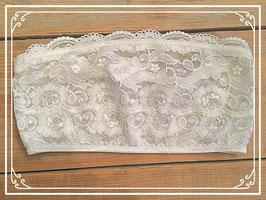 Nieuw wit kanten strapless topje - 35 cm breed en 18 cm hoog