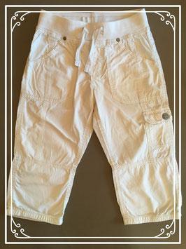 Witte katoenen driekwart broek van L.O.G.G. - maat 134