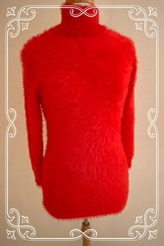 Rode fluffy trui maat S