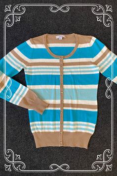 Mooi vest in groen tinten met beige van Fashion Maat 36