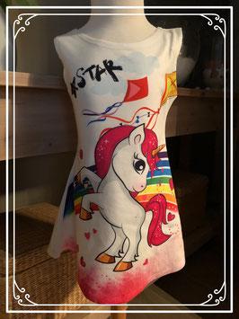 Unicorn jurk - Maat 98