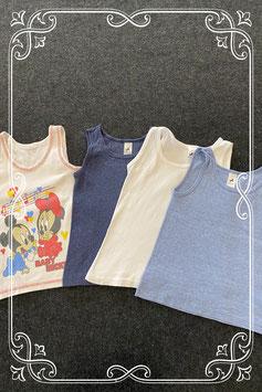 4 leuke hemden in wit en blauw van o.a. C&A in maat 110/116