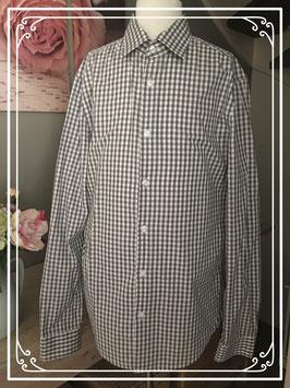 Geruit grijs overhemd van Pier One - maat M