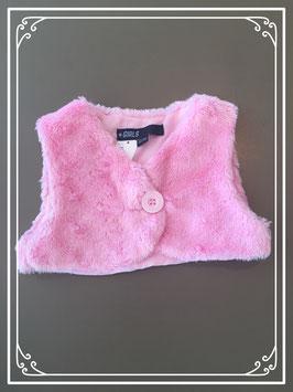 Roze hesje van teddystof - maat 92