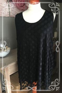 Zwarte top met stippen van MS Mode - Maat XL