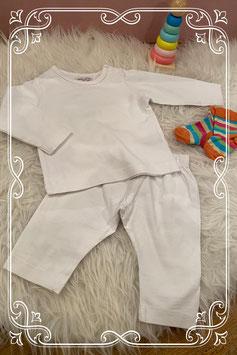 Hema setje - wit shirt met wit broekje incl. gekleurde sokjes - maat 50-56