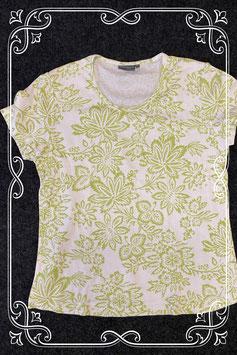 Nieuw! Wit shirt met groene bloemen van Essentials maat 40