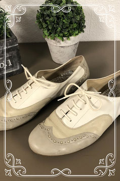 Nette wit met beige schoenen van Semler maat 39