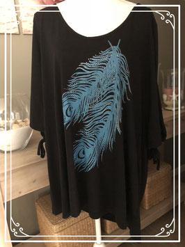 Zwart shirt met opdruk-maat 52
