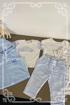 5 delige set in schattig baby blauw Maat 62