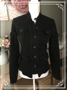Stoere zwarte spijkerjas van Geisha Jeans - Maat M