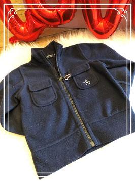 Donkerblauw fleece vest van Donaldson - maat 98