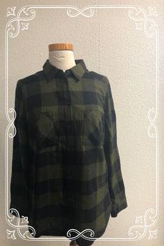 Groen zwart geblokte blouse van H&M maat 38