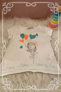 Schattig wit T-shirtje met leuke print van 3 Pommes - Maat 74