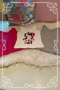 3 hemdjes in roze - grijs en wit van Zeeman maat 98/104
