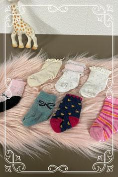 7 paar gekleurde sokken met 1 paar van Lief! - 6 tot 12 maanden