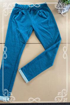 Blauwe glitterbroek van Soho maat 170