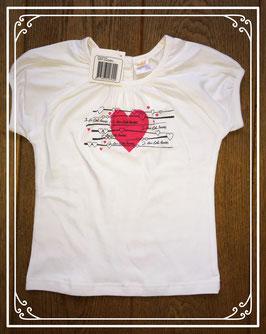 Nieuw wit T-shirtje van Dikkie - maat 86
