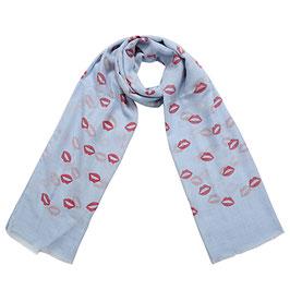 Nieuw: Yehwang - Scarf Kiss Me - Lichtblauw