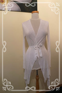 Lang wit vest van Sisley maat S