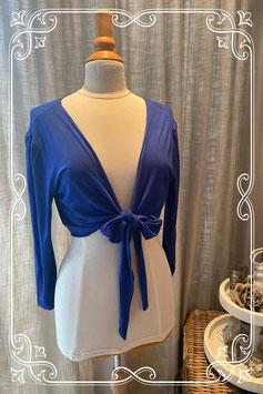 Blauw zwangerschap vestje van prenatal - maat XL