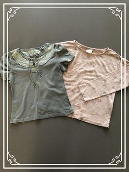 Set van korte en lange mouwen shirts - Maat 104