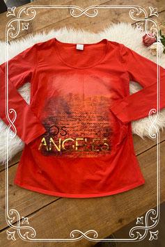 Rood zwangerschap shirt met bedrukking van mama licious - maat xl