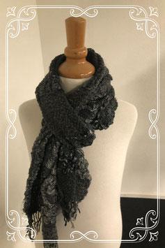 Leuke nette sjaal in zwart met grijs