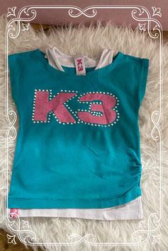 Tweedelig K3 t-shirt - Maat 110-116