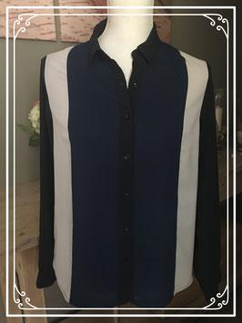 Blauw/grijze blouse - Maat 36
