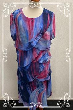 Mooie jurk met vrolijke kleuren van Habella maat 52