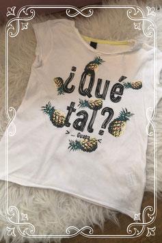 Tropisch wit t-shirt - Maat 134-140