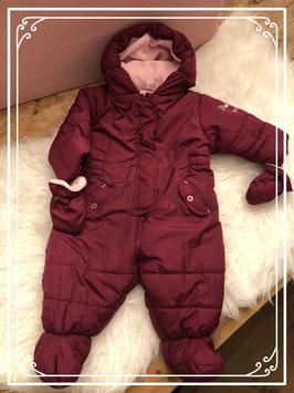 Bordeaux rood winter pakje van de BabyClub - Maat 74