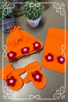 3-delige set in oranje met rood en roze - voor 2-5 jaar