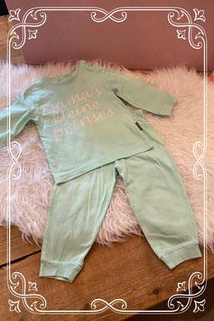 blauw/groene pyjama van fun2wear - maat 80