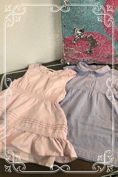 Set van twee jurkjes van de merken Name it en Lupilo - maat 80