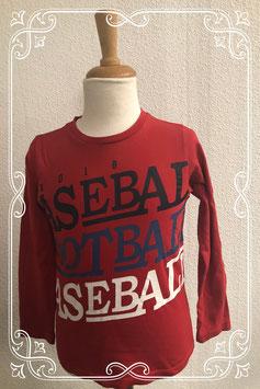 Leuk rood shirt met opdruk van OVS maat 122